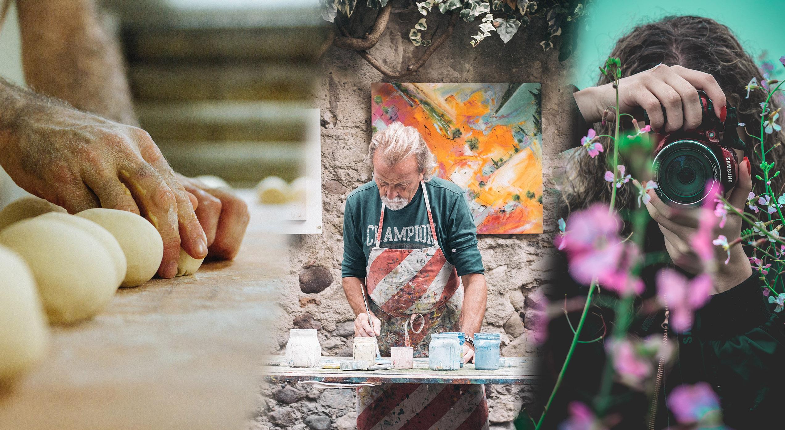 Hobbies shown: Baker, Painter, Photographer