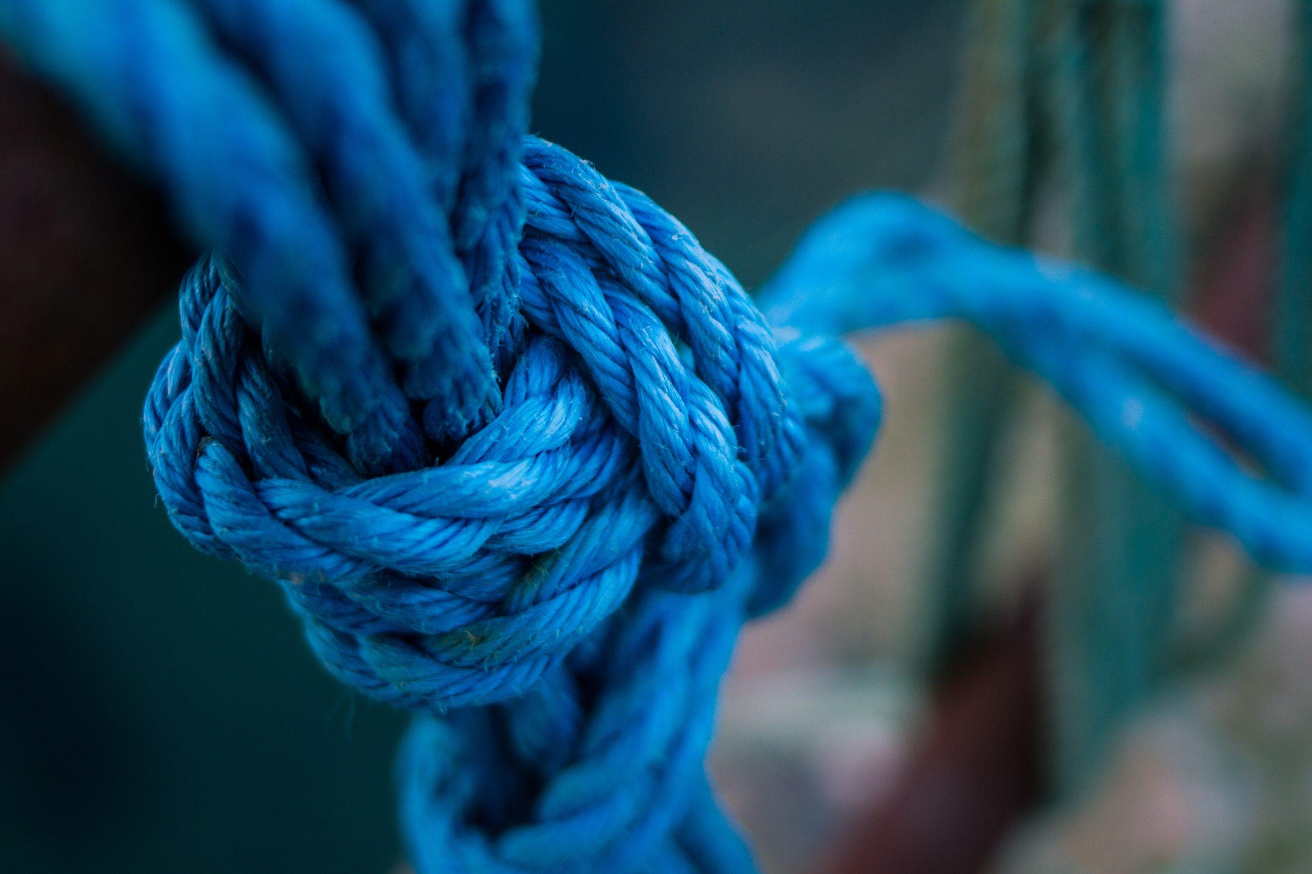 blue knot tie